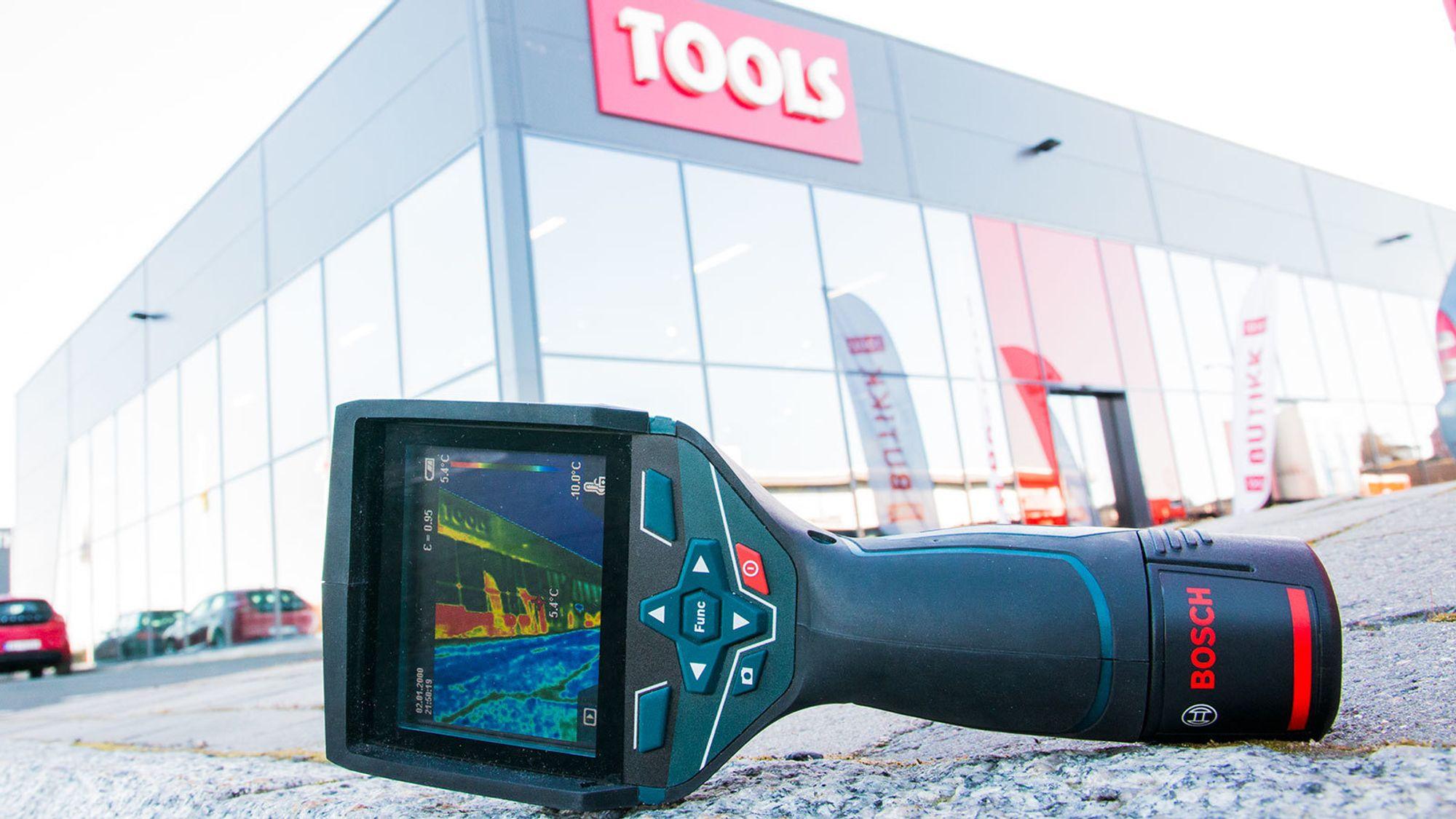 Varmekameraet fra Bosch er både lett og robust.