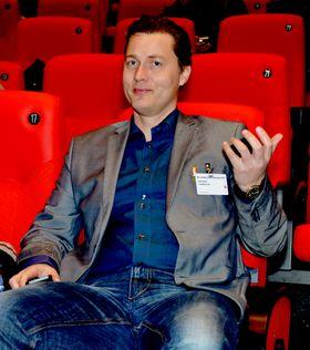 Styreleder Arild Kalkvik i Film&Kino på Kinokonferansen 2013, da i Trondheim.