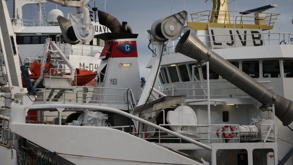 Fiskerstrand Verft har for tida åtte fiskebåter inne til reparasjon og dokking.