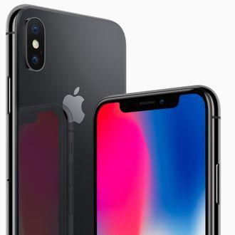 Den svarte utgaven av Iphone X (vi testet den hvite).