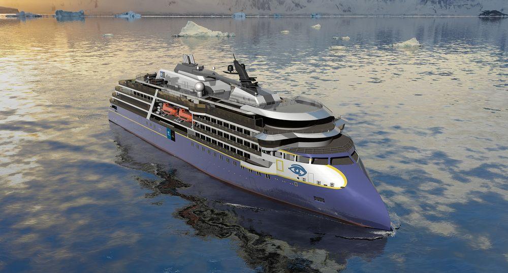 Ulstein verft skal bygge ett ekspedisjonscruiseskip med Ulstein CX 104-design for Lindblad Expeditions. Rederiet har opsjon på ytterligere to. Skipet er 120 meter langt, 20 meter bredt og med lugarplass til 125.  Det blir god plass når skipet er på 10.000 bruttotonn.