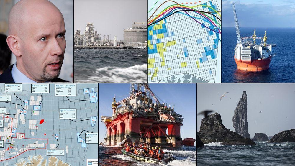 Tidligere statsråd Tord Lien. Melkøya-anlegget i Hammerfest. Flytting av iskanten. Goliat-skandalen. 23. konsesjonsrunde. Greenpeace-aksjoner mot oljerigger. Sårbart miljø. Alt er en del av bakteppet for klimarettssaken som nå er avgjort.