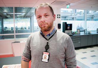 Leder Tor Erling Thømt-Ruud i redaksjonsklubben i VG.