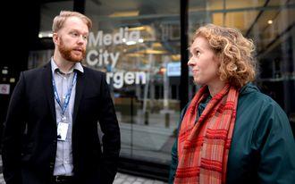 Klubblederne Christian Nicolaisen (BT) og Linda Hilland (BA) har ikke mye til overs for et PR-byrå som nabo.