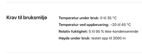 Apple har designet iPhone X for bruk i mellom 0 og 35 grader celsius.