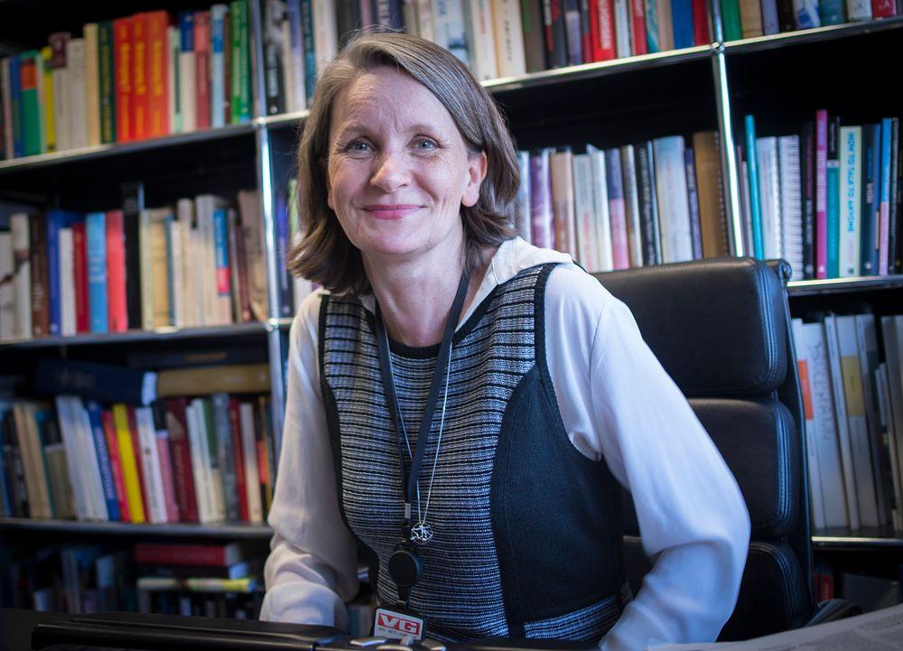 Politisk redaktør Hanne Skartveit i VG på sitt kontor i Akersgata 55.