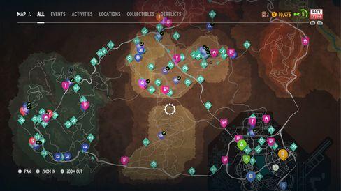 Det er nok å finne på. Slik ser kartet ut etter snaue tre timers spilletid.