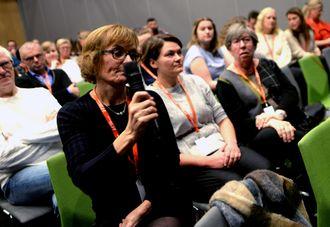 Journalistlærerne i Bodø både lyttet og deltok i debatten.