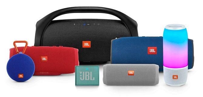 JBLs familie smart audio-produkter. Foto: JBL.