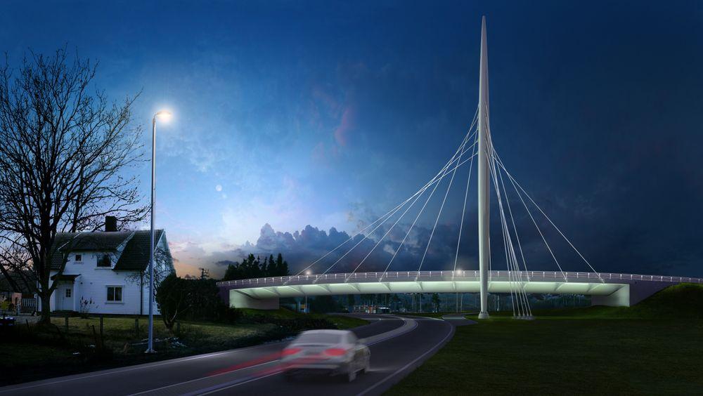 Norgesporten bru skulle vært ferdig og åpen for trafikk i sommer.