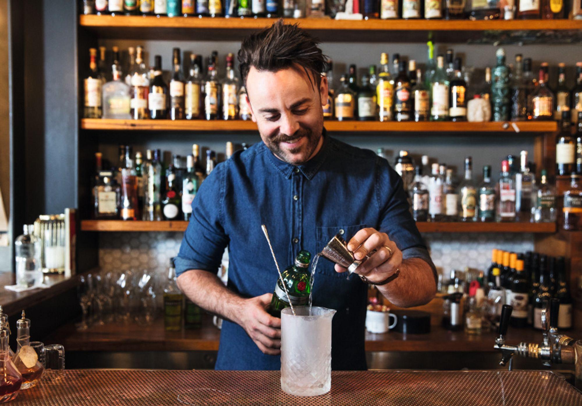 Chris Hysted er barsjef på The Attic.