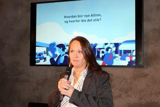 KINDEREGG: Altinn-sjef Cathrine Holten forklarer at Altinn er tre ting. Både teknisk plattform, tjenester og samarbeid. Uten å skape verdi for brukerne er de likevel ingenting, sa «Cat» på gårsdagens pre-lansering.
