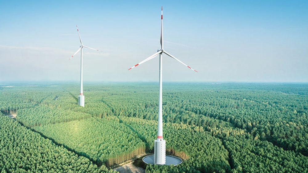 Verdens høyeste vindmøller er en del av prosjektet «Naturstromspeicher Gaildorf» (Naturstrømlager Gaildorf), som oppføres ved tyske Stuttgart.