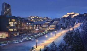 Ved stasjonen Sollihøgda plussby: Fremtidsvisjon for Sollihøgda plussby ved togstasjonen. Høy tetthet av boliger og arbeidsplasser her, kan bidra til miljøvennlig transport for byens 30 000 innbyggere og 15 000 arbeidsplasser.