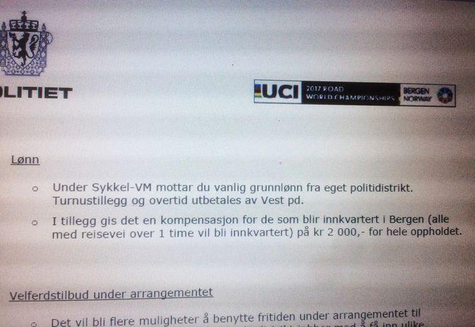 PENGENE SOM FORSVANT: I brevet som ansatte fikk, står det svart på hvitt at de skal få godtgjørelse.