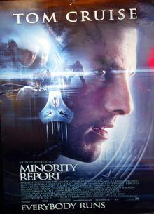 Pre-crime er fortsatt science fiction. Her illustrert med filmplakaten til «Minority Report» med Tom Cruise i hovedrollen.