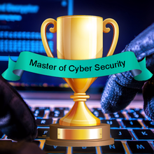 Master of cyber security-pokal. Tegning.