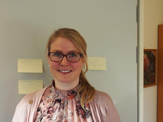 DRØMMEJOBBEN: Ida Madeleen Moe skryter av den lokale frivilligheten. Hun er den nye lederen av Frivilligsentralen i Oppegård.