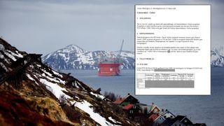 Dette er notatet Terje Søviknes ikke ville lete etter: Detaljerte utregninger om Goliat