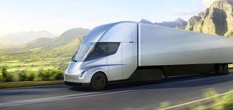 Tesla Semi skal settes i produksjon om to år.