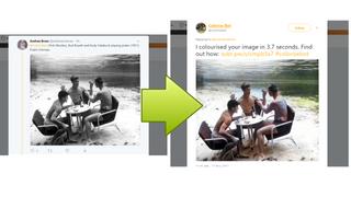 Twitterbot fargelegger svart/hvitt-bilder ved å bruke maskinlæring