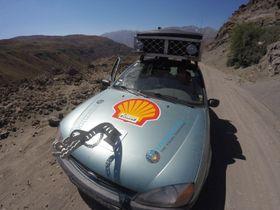 DUGANDE DONING: Ford Fiestaen greidde den lange turen imponerande bra.