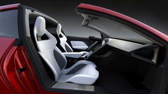 Interiøret i Tesla Roadster 2.