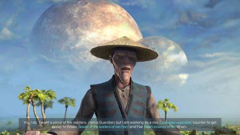 Mye av spillet tilbringes i snakk med det joviale Talan-folket.