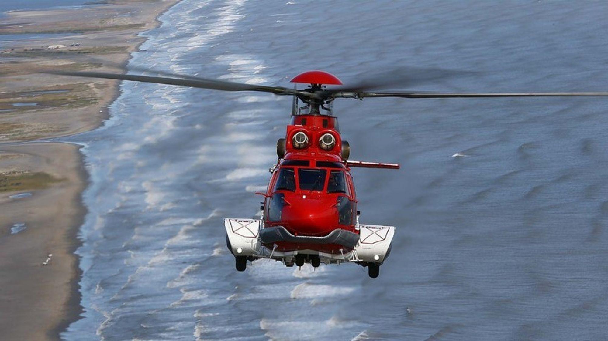 Et av Era Groups ni H225-helikoptre mens det fortsatt var i drift, før Turøy-ulykken 29. april 2016.