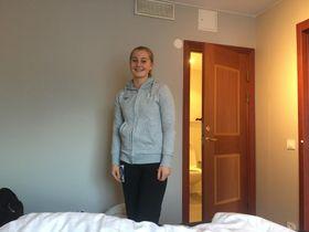 KLAR: Julie Hattestad er i Sverige for å spille turnering med U-jentene.