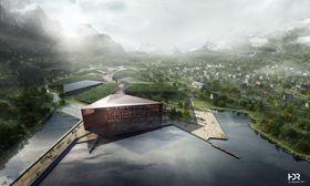 Ferdig utbygd, vil datasenteret ha et areal på 600 000 kvm over 4 etasjer.
