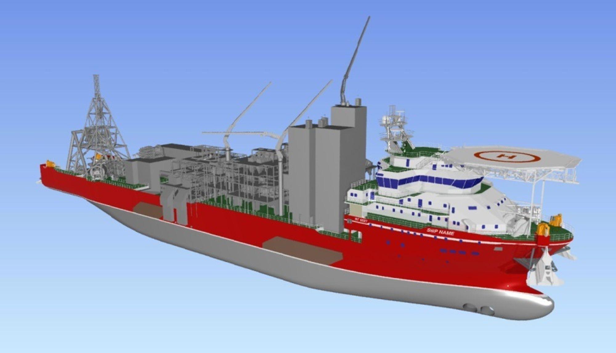 Marin Teknikk har designet det nye diamantleteskipet som får betegnelsen MT 6027. Skipet vil bli 177 meter langt, 27 meter bredt og skal ha 109 sengeplasser.