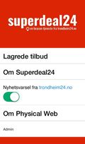 Slik ser appen Superdeal24 ut.