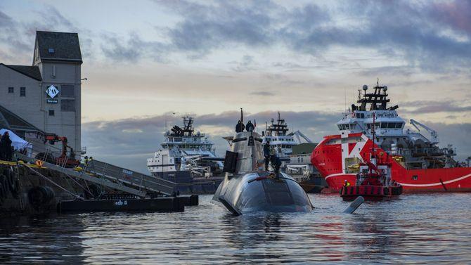 U-32, som var den første ubåten i 212A-klassen og ble tatt i bruk 19. oktober 2005, i Bergen i fjor høst. De nye norske ubåtene vil bygge på dette designet.