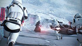 Star Wars Battlefront II, hvor salget av lootbokser for ekte penger nå er satt på vent som følge av siste ukes kontroverser rundt spillet.
