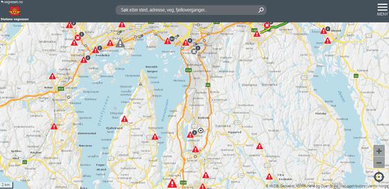 SMART KART: Bruk dette kartet for å holde deg oppdatert på veiene.
