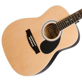 Mastro by Gibson akustisk gitar i full størrelse i naturfarge. Pris: 1.500,- Foto: Gibson