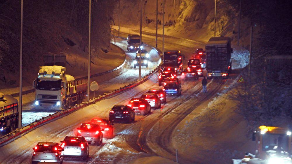 E39 mellom Kristiansand  og Mandal er i dag svært trafikkert.