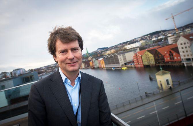 Konsernsjef Per Axel Koch i Polaris Media - her fra sine lokaler i Trondheim.