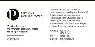 Alle kan si at de følger Vær varsom-plakaten, men bare de som er tilknyttet eller medlem i Norsk Presseforbund kan bruke denne.