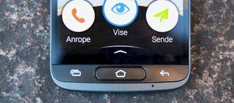 Doro 8040 har fysiske knapper.