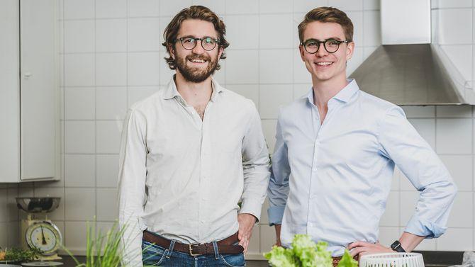 KitchenTime-gründerne Joel Falck og Anton Malmberg.
