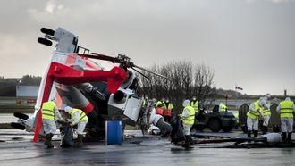 Redningshelikopteret veltet under bakketesting på ettermiddagen fredag 24. november.