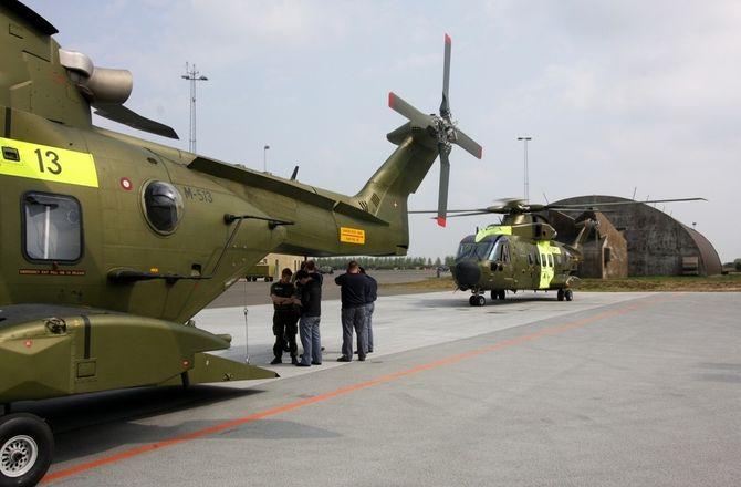 Danmark har i skrivende stund 13 slike EH101-helikoptre. Disse maskinene tilhører 722-skvadronen med base på Karup. Foto: Per Erlien Dalløkken