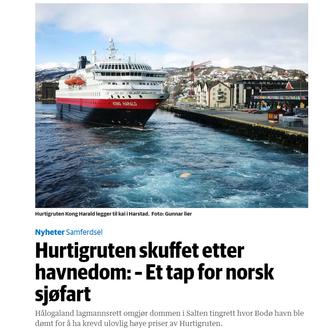 Faksimile fra Dagens Næringslivs artikkel.