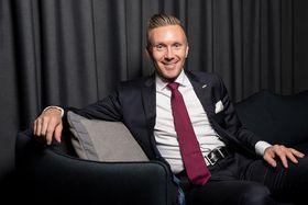FORNØYD: Torbjørn Marthinussen, General Manager ved Radisson Blu Park Hotel, Fornebu.