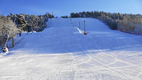 SLIK LIKER VI DET: Her ser du Ingierkollen på en perfekt vinterdag! Vi håper på mange slike dager i vinter!