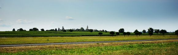 Utsikt mot St Seurin nord i St Estephe.
