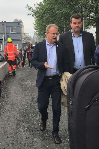 Det var pressen og ikke de ansatte i bygg- og anleggsbransjen som ble invitert til lanseringen av Oslomodellen. Foto: Christina Gulbrandsen