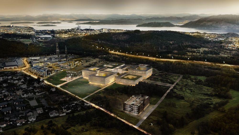 Det nye universitetessykehuset i Stavanger skal være på rundt 100.000 kvadratmeter og stå klart til bruk i 2023.